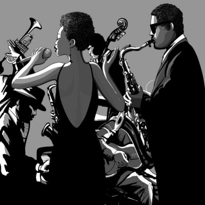 Canvas print 0009-jazzsinger