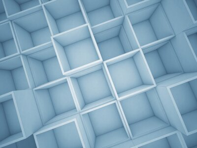 Canvas print 3d abstract cube background