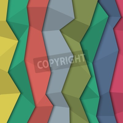 Canvas print 3d colored paper background - origami style.