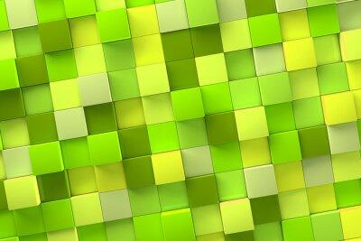 Canvas print 3d Cube Background