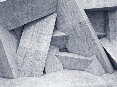 Canvas print 3d geometric wall