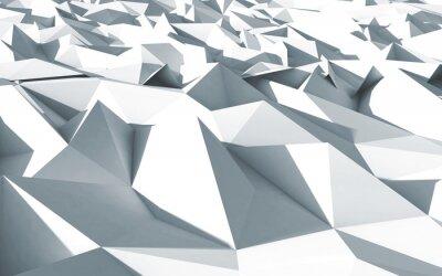 Canvas print 3d polygone beau cristaux fond texture blanc