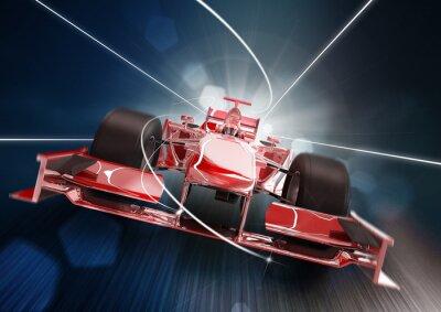 Canvas print 3d render, formula one car concept