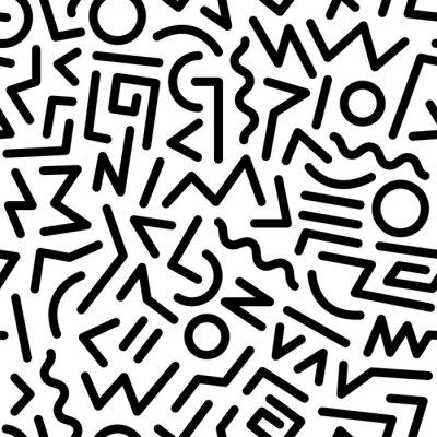 Canvas print 80s pattern
