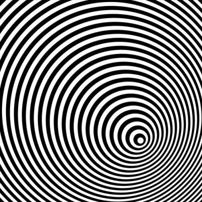 Canvas print A black and white optical illusion