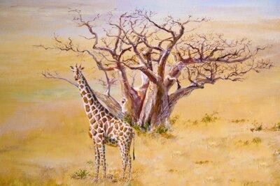 Canvas print A giraffe, Kenya