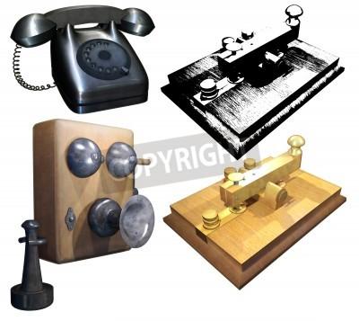 A retro communication facility set