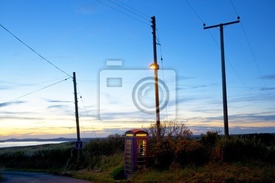 A telephone Box at St Brides Bay