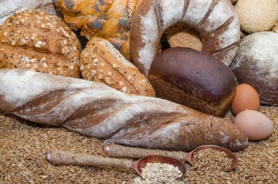 Canvas print A variety of bakery products