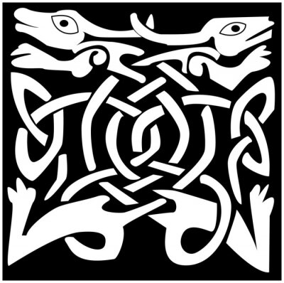 A vector illustration of a Celtic animal with a beautiful design