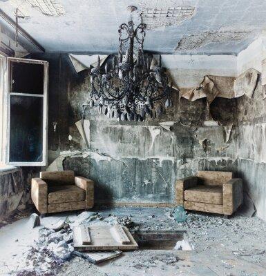 Canvas print abandoned  interior