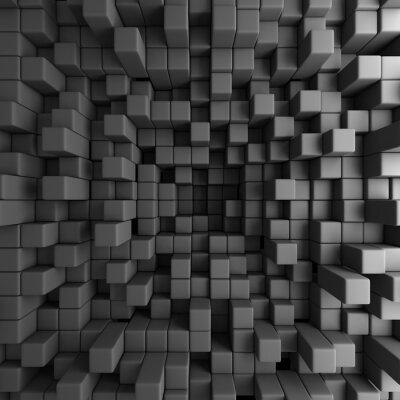 Canvas print Abstract 3D Cubes Blocks Wallpaper Background