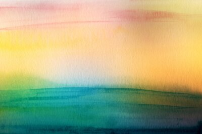 Canvas print Abstract acrylic and watercolor brush strokes painted background