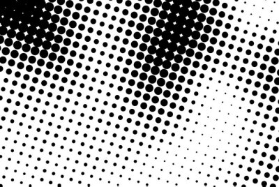 Canvas print Abstract background with black dots.