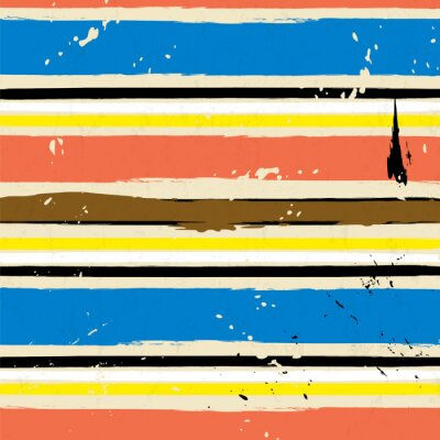 Canvas print abstract background, with strokes and splashes, stripe pattern,