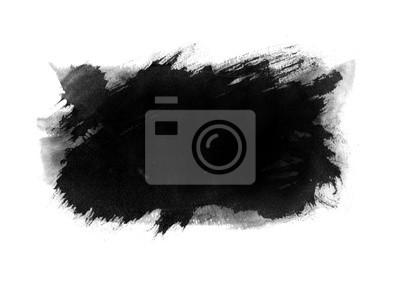 Abstract black Ink splash background