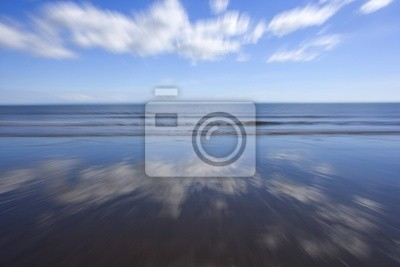 Abstract blured image of the waves and the sea