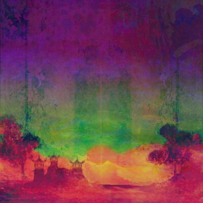 Canvas print abstract Chinese landscape