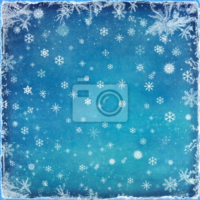 Canvas print Abstract Christmas background with snowflakes