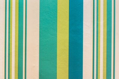 Canvas print Abstract colorful vintage background with stripe pattern on wall