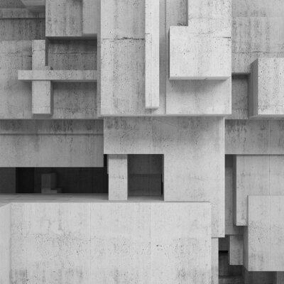 Canvas print Abstract concrete structures, square background