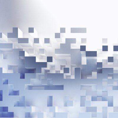Canvas print Abstract cubes wallpaper