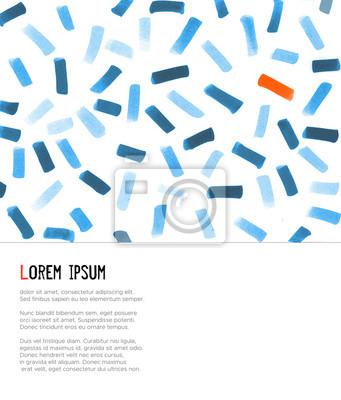 Abstract design template with minimalistic scandinavian background. Vector illustration.