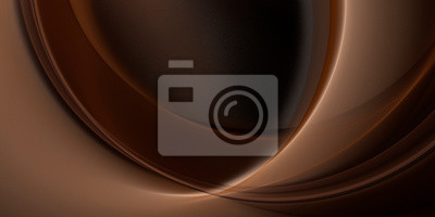Canvas print Abstract fractal beautiful chocolate brown background