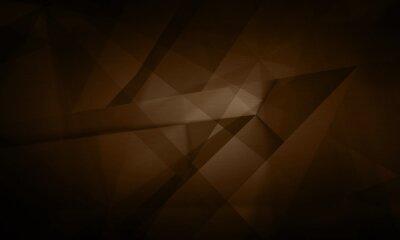 Canvas print Abstract futuristic digital technology dark brown background illustration