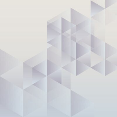 Canvas print Abstract geometric background, modern triangular design