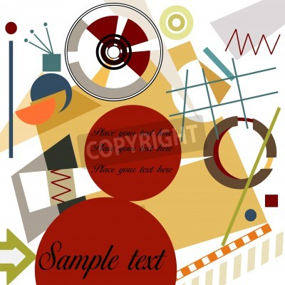 Canvas print Abstract geometrical background; Master Kandinsky style