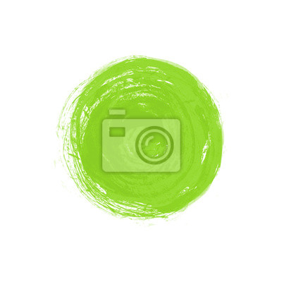 Abstract grunge green circle. Vector illustration with greenery - color of the year
