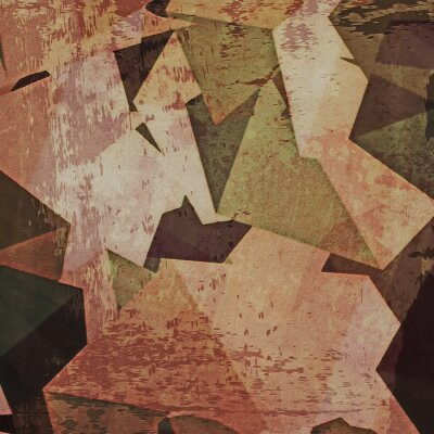 Canvas print Abstract grunge wall background, cubism