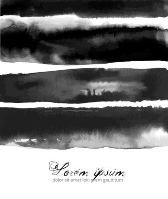 Abstract ink wash paiting hand drawn with ink on white background.