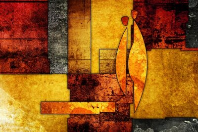Canvas print Abstract oil painting illustration