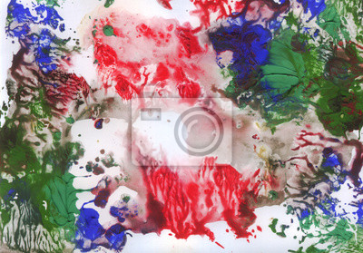 Canvas print Abstract painting. Reminiscent of sea coral. Textured background