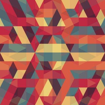 Canvas print abstract retro geometric pattern