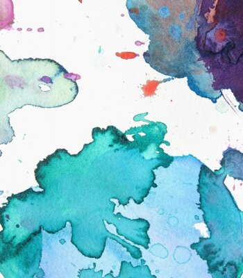 Canvas print abstract watercolor background design