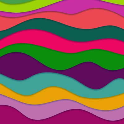 Canvas print Abstract Wavy Background