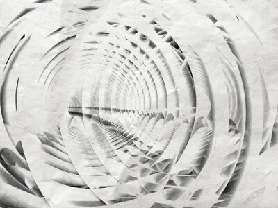 Canvas print Abstract white spiral illustration background