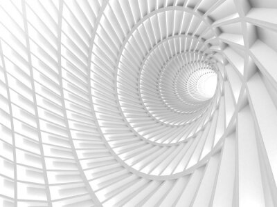 Canvas print Abstract White Tunnel Hole Background