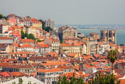 Canvas print Aerial view of Lisbon, Portugal