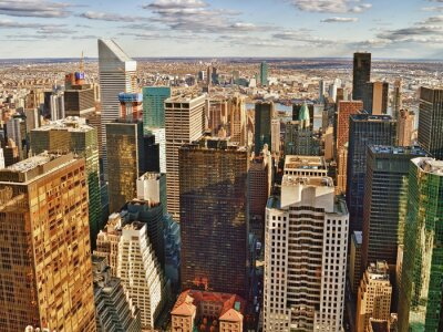 Canvas print Aerial view of the New York City.