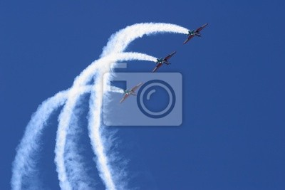 Canvas print aerobatic display
