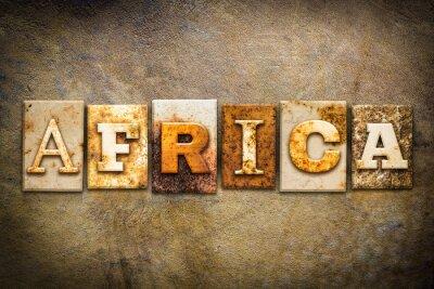 Canvas print Africa Concept Letterpress Leather Theme