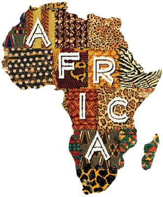 Canvas print Africa patchwork vector map