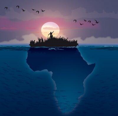 Canvas print Afrique - Émigration