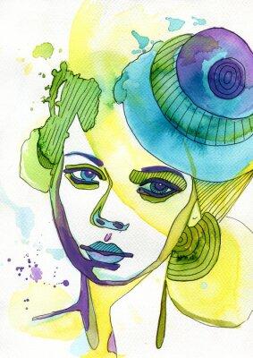 Canvas print Akwarelowy portret kobiety