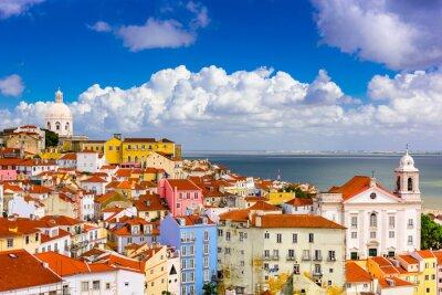 Canvas print Alfama Lisbon Cityscape