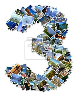 All over the world photo font 3 with 210 original pictures
